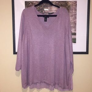Old Navy pale pink, v-neck sweater w/ pleated back